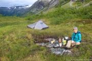 Trollstigen - Bivouac - Préparation du petit-déjeuner