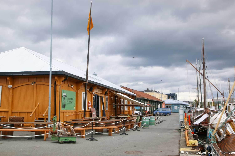 Trondheim - Hangars transformés en terrasses